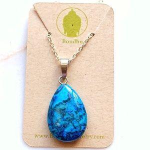 Blue Jasper Pendant Necklace